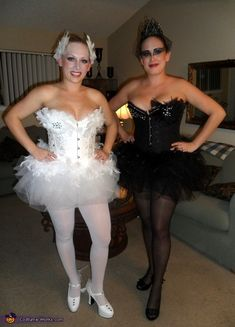 Unique, Detailed and Personalized Black Swan Couples Costumes! - Halloween Costume Contest via @costumeworks