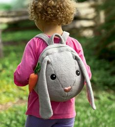 Apple Park organic cotton bunny backpack -- a new addition to the sweet organic Picnic Pals plush toy collection Sewing For Kids, Diy For Kids, Toddler Backpack, Fabric Bags, Baby Kind, Kids Bags, Kids Backpacks, Handmade Bags, Softies