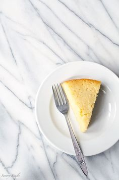 A slice of crushed pineapple cake.