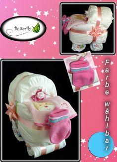 Windeltorte Kinderwagen Geschenk zur Geburt Taufe Babyparty Baby Jungen Mädchen | eBay
