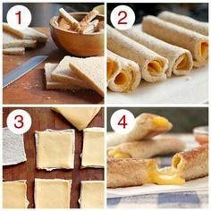 #FacilDePreparar Ingredientes pan, queso, jamón