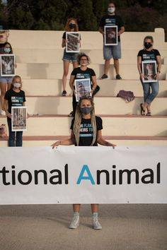 The National Animals Rights Day Malta 2021 Posters with animal faces. Activists Unite by Nataša Pantović Video