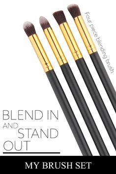 Smokey eyes, beautiful brows, and expert contouring are all in your wheelhouse with this 4 piece blending brush. These brushes can handle any concealer cream, loose powder eye  shadow, or gel you have. And if you don?t love it, there?s a 100% money back guarantee.  Grab yours before they?re all gone.