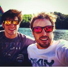 Carlos Sainz Jr and Fernando Alonso