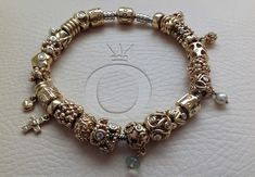 Pandora gold bracelet... love their gold especially the older retired ones...