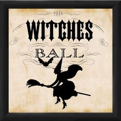 PTM Images Halloween Witches Ball Framed Graphic Art