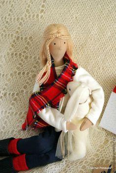 Купить Кристинка. - разноцветный, текстильная кукла, интерьерная кукла, тильда кукла, Кристинка, рождество