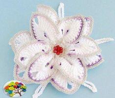 Нежный и красивый цветок крючком Crochet Cardigan Pattern, Crochet Patterns, Football Blanket, Free Crochet, Knit Crochet, Crochet Symbols, Knitted Flowers, Textiles, Crochet World