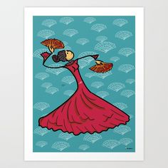 Buy Flamenco dancer Art Print by giuseppelentini. Worldwide shipping available at Society6.com. Just one of millions of high quality products available.