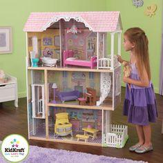 kidkraft petite chateau dollhouse barbie doll house wooden furniture