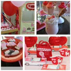 Custom 50s party favors and party crowns by Shawna Brockmeier