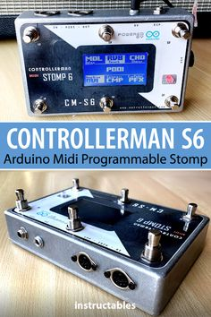 mrandisi's ControllerMan S6 is an #Arduino midi programmable stomp. #Instructables #electronics #technology #audio Useful Arduino Projects, Audio, Technology, Electronics, Crafts, Tech, Manualidades, Tecnologia, Handmade Crafts