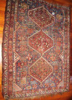 Antique Qashqai Tribal tapis Magic Carpet du par dreamhousetaos