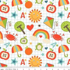 Kinderstoff School Days Patchworkstoffe Stoffe Patchwork Vorhangstoffe Kinder