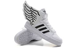 Jeremy Scott Wings 2.0 Shoes New White Black