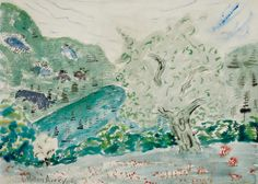 Milton Avery - Untitled(Landscape in Jamaica, Vermont), 1943 | Flickr - Photo Sharing!