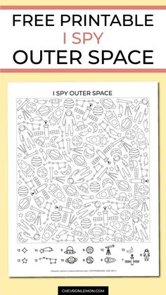 Free printable I spy outer space game