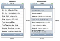 Using lists to display data in iPhone web apps