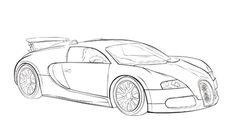 Car Sport Bugatti Veyron Coloring Page Bugatti