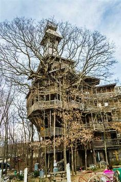 The largest tree house in the world, Crossville,Tennessee