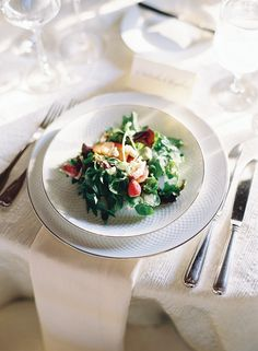 Beautiful spring salad. Wedding reception menu and cuisine by The Catering Outfit, image by Adam Barnes Photography.