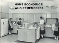 Home Economics Class. I remember learning to make cinnamon toast. and mac n cheese I loved this class. They need to make this and sewing mandatory again. it was in my day, and I'm thankful for it