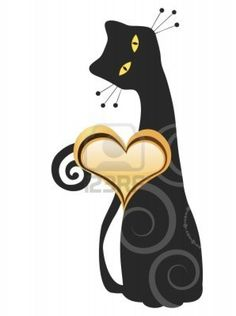 Kitty with Heart Valentines Day Design