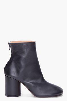 MAISON MARTIN MARGIELA Black Leather Boot