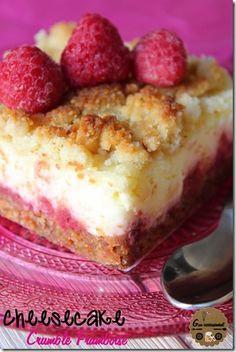 Goulucieusement: Cheesecake Framboises & Crumble.