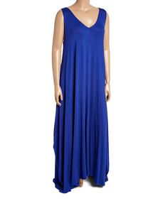 Look what I found on #zulily! Cobalt Blue Sleeveless Maxi Shift Dress - Plus by GLAM #zulilyfinds