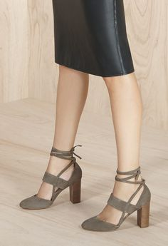 The modern Mary Jane pump with wrap-around ankle ties | Sole Society Isabeli