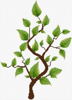 Tree Cross Stitch Designs, Cross Stitch Patterns, Crochet Clothes, Free Design, Embroidery Designs, Beading, Artsy, Canvas, Ideas