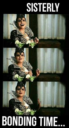 """""""Sisterly bonding time"""" -Evil Queen- 6x02 """"A Bitter Draught"""" #onceuponatime #season6 #ouat #once"""