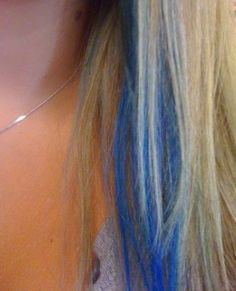 Getting my hair highlighted blonde all over and putting blue streaks throughout it in about a month! I cannot wait!!