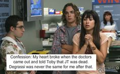 Degrassi Confessions; this was the last episode i watched ever.