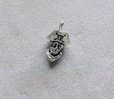 Sterling Silver Pirate Head Charm