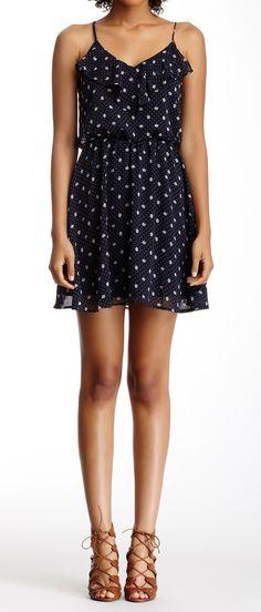 Dot ruffled dress
