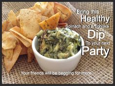 INCREDIBLE Home Made Spinach and Artichoke Dip -  Simple, healthy, delicious food!  For this recipe and more follow us :D  http://filf-food.tumblr.com