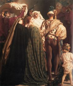 Lord Frederic Leighton - Dante in Exile (detail), 1864