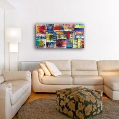 """""""The Coming Of Spring"""" - Free Worldwide Shipping - Original PMS Abstract Oil Painting On Canvas"""