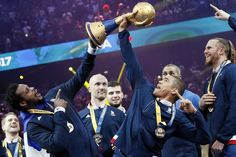 Week of Feb. 3, 2017:      Paris, France:   The French handball team members celebrate with the winning trophy after the 25th IHF Men's World Championship 2017 final match against Norway on Jan. 29.
