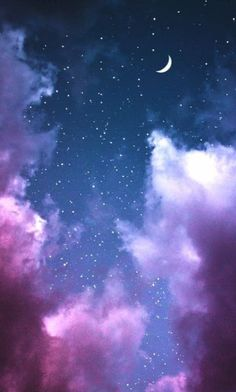 New painting sky night galaxies ideas Moon And Stars Wallpaper, Iphone Wallpaper Sky, Night Sky Wallpaper, Star Wallpaper, Scenery Wallpaper, Tumblr Wallpaper, Screen Wallpaper, Wallpaper Backgrounds, Phone Backgrounds