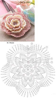 Best 12 15 diy crochet flower patterns 1001 crochet by – Artofit – SkillOfKing. Crochet Leaf Patterns, Crochet Motifs, Crochet Diagram, Crochet Chart, Thread Crochet, Crochet Doilies, Crochet Designs, Diy Crochet Flowers, Crochet Flower Tutorial