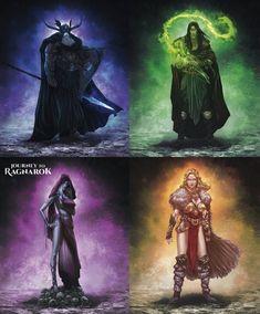 Odin, Father of All. Loki, The Trickster God. Hel, Ruler of Helheim. Sif, Goddess of Grain