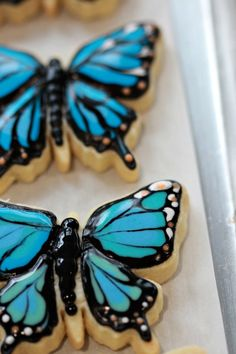 Icing Butterflies Biscuits