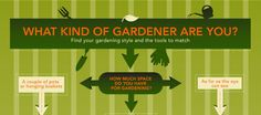 Your gardening style determines the tools you will need to make your gardening tasks easier and more effective. Follow our handy quiz and learn your gardening style and the tools you need to get the job done, then click through to learn more.