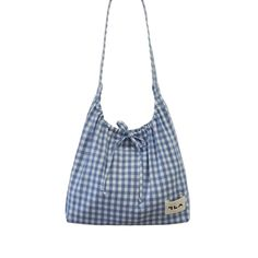 Leather Bags Handmade, Handmade Bags, Japanese Bag, Diy Tote Bag, Ideias Diy, Diy Handbag, Gingham Check, Fabric Bags, Cute Bags