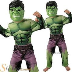 Boys incredible hulk marvel avengers #halloween superhero #fancy dress #costume,  View more on the LINK: http://www.zeppy.io/product/gb/2/111953763206/