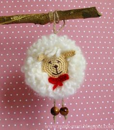 Sheep 2015...diagrams..use translate for instructions..would make a cute pendant or key chain!!