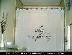 Inspirational Shower Curtain Inspiring by CustomShowerCurtains, $55.00